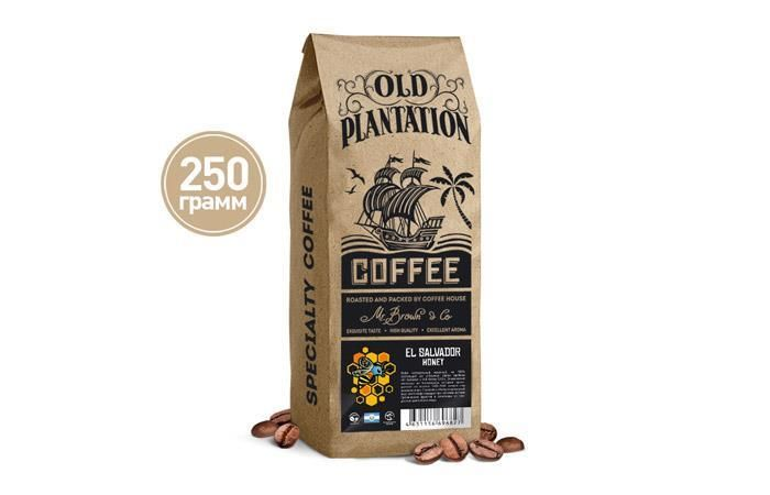 Old Plantation – Specialty Coffee «El Salvador Honey» кофе в зернах 250г