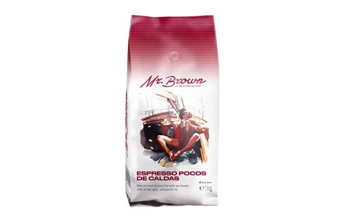 Mr.Brown «Espresso Pocos De Caldas» кофе в зернах 1кг